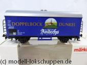 "Märklin 4421 Bierwagen ""Kloster Andechs Doppelbock Dunkel"""