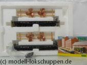 """Trix 24027 2 DB Schwerlastwagen SSym 46 beladen mit  Schiffsschrauben """"Tor zur Welt"""""""