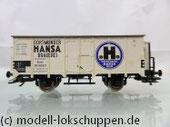 """Kühlwagen """"DORTMUNDER HANSA-BRAUEREI"""" mit Bremserhaus, Bauart Ghk der DRG"""
