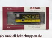 Bemo 2274 337 - Werbewagen - Gedeckter Güterwagen - Gk 527 - HAZYLAND MONTREUX - Bremserbühne - MOB - H0m