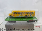 Märklin 48613 Insider 2013 Märklin Kids Club Jahreswagen 2013 Niederbordwagen mit US Schulbus