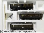 Märklin 43973 Wagen-Set ´Oldtimer-Personenzug´  Dreiachsige Personenwagen der DRG frühere bayerische Schnellzugwagen