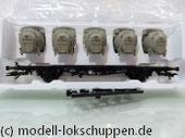 Märklin 48533 Tragwagen Lbgjs 598 der DB mit Pa Behältern