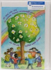 Kommunionkarte Regenbogen Lebensbaum