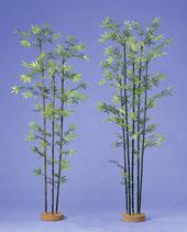 人工樹木黒竹3本H1800