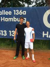 Finalist Hodel und Sieger Jakunin