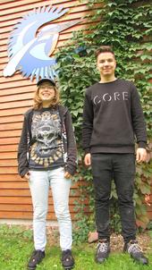 """Lena und Timo sind die """"Neuen"""" Bundesfreiwilligen beim LBV in Kleinostheim"""