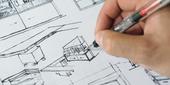 Nos architectes d'intérieurs vous réalise des plan d'agencement de cuisine équipée - Croquis et esquisses à la main - dessin informatique