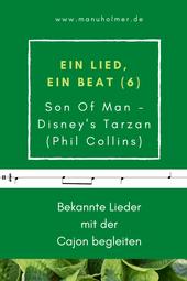 Ein Lied, ein Beat Cajon bekannte Musik begleiten Son Of Man Tarzan