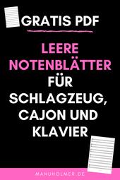 Leere PDF Notenblätter für den Musikunterricht