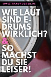 elektro Schlagzeug leise