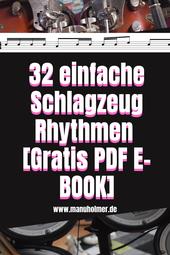 Einfache Schlagzeug Rhythmen kostenloses PDF E-Book
