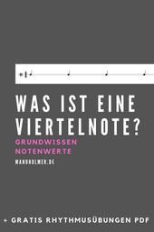 Was ist eine Viertelnote? Musik Tipps