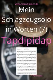 Schlagzeugsolo Noten PDF gratis Tapdipidap