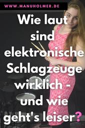Elektronische Schlagzeuge Lautstärke leiser machen