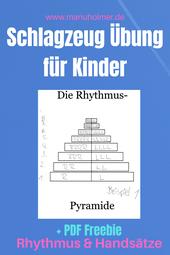 Rhythmus-Pyramide PDF gratis Schlagzeug Übung Kinder