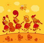 Die Poncho Ponys spielen Countrymusik für Kinder