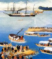 岩倉大使欧米派遣の絵画