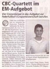 Cronenberger Woche Vorbericht vom 01.07.2005 EM