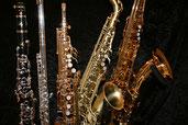 Flöte, Blockflöte, Klarinette, Saxophon, Querflöte