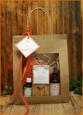 sacs cadeaux : hydrolats, macérats, tisanes, Palo-santo, Sauge blanche