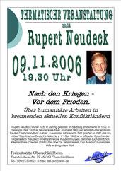 Rupert Neudeck am 09.11.2006 Nach den Kriegen - Vor dem Frieden