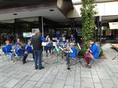 Unser Vororchester beim Kinderfest vom Kreisjugendring Osterode am 21.09.2013
