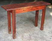 Redgum hall table