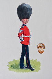 L/Sgt, Grenadier Guards (private caricature commission)