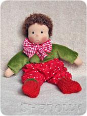 купить вальдорфскую куклу в пришивном комбинезоне для мальчика