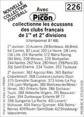 N° 226 - Vache Picon (Verso)