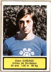 Alain GIRESSE (1975-76, Bordeaux > 1998, Entraîneur PSG)