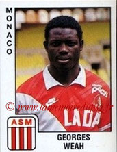 N° 176 - Georges WEAH (1989-90, Monaco > 1992-95, PSG))