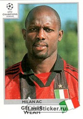 N° 305 - George WEAH (1992-95, PSG > 1999-00, Milan AC, ITA)