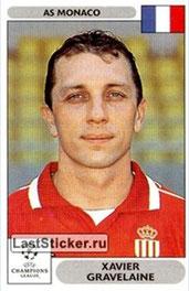 N° 167 - Xavier GRAVELAINE (1993-96 et 1999-00, PSG > 2000-01, Monaco)