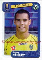 N° 347 - Grégory PAISLEY (1997-00, PSG > 2004-05, Sochaux)