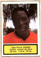 Jean-Pierre ADAMS (1975-76, Nice > 1977-79, PSG)