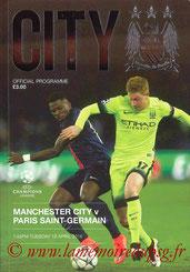 Programme  Manchester City-PSG  2015-16
