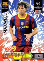 N° U09 - MAXWELL (2010-11, Barcelone, ESP > Jan 2012-??, PSG)