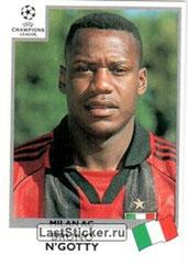 N° 295 - Bruno N'GOTTY (1995-98, PSG > 1999-00, Milan AC, ITA)