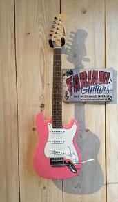 Kinder E-Gitarre 7/8, Farbe: Pink/Rosa, E- Guitar for Kids 7/8