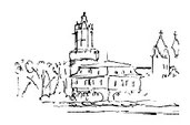 Guta von Freydorf-Stephanow: Villa Michels mit Kirche und rundem Turm