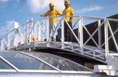 Brückenbefahranlagen - gebogen