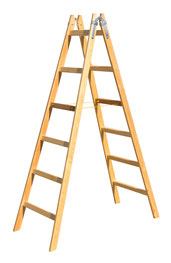 12-006 Wooden double ladder