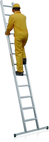 59-112 Aluminium Leaning Ladder with flat-rungs