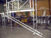 Roof scaffolding