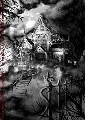 Le Carnaval aux corbeaux - Illustration 01 - La demeure de la vieille madame Schaeffer