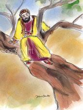 Zachäus auf dem Maulbeerbaum