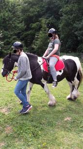 Üben auf dem Pferdespielplatz