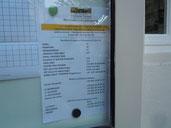 Numéros d'urgence affichage extérieur